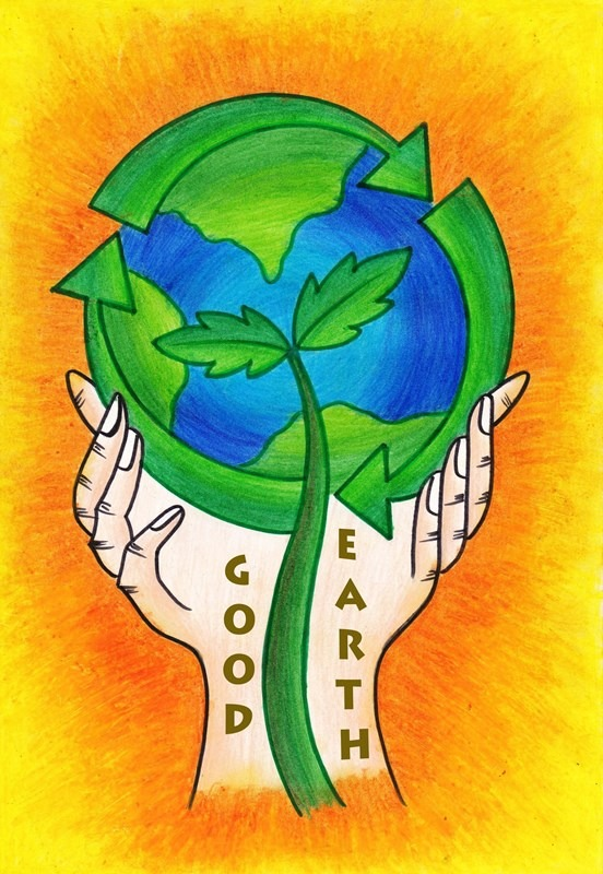 Good Earth Logo Designed by Nandini Bhachawat in they year 2016